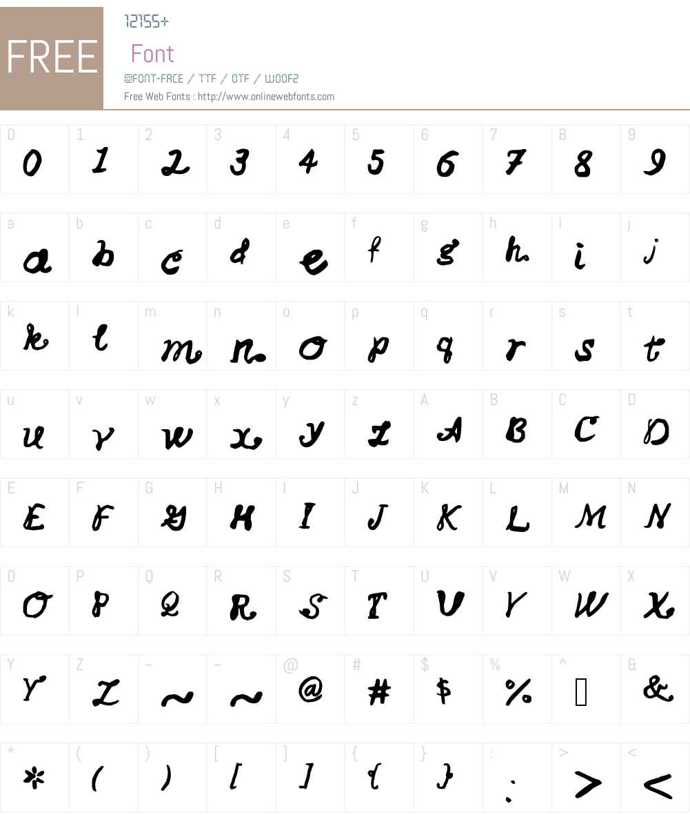 ChiffonBows Font Screenshots