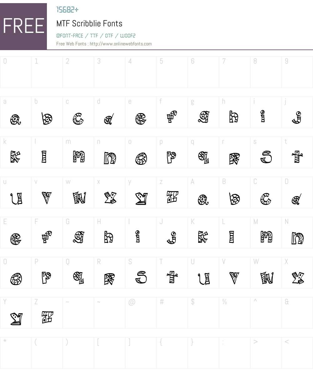 MTF Scribblie Font Screenshots