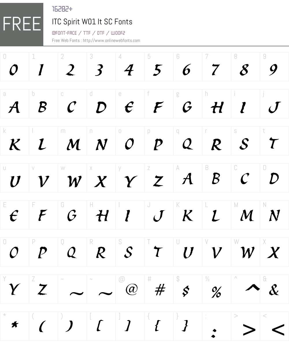 ITCSpiritW01-ItSC Font Screenshots
