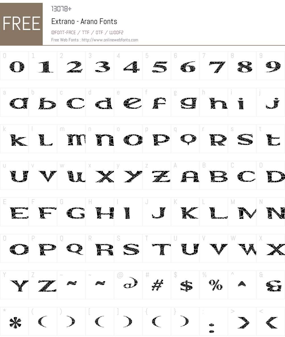 Extrano - Arano Font Screenshots