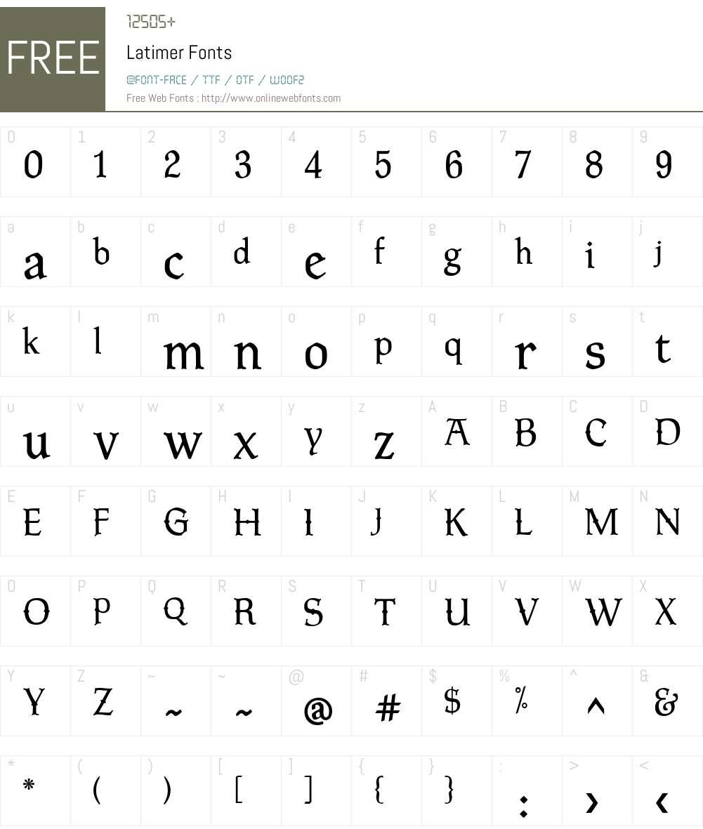 Latimer Font Screenshots