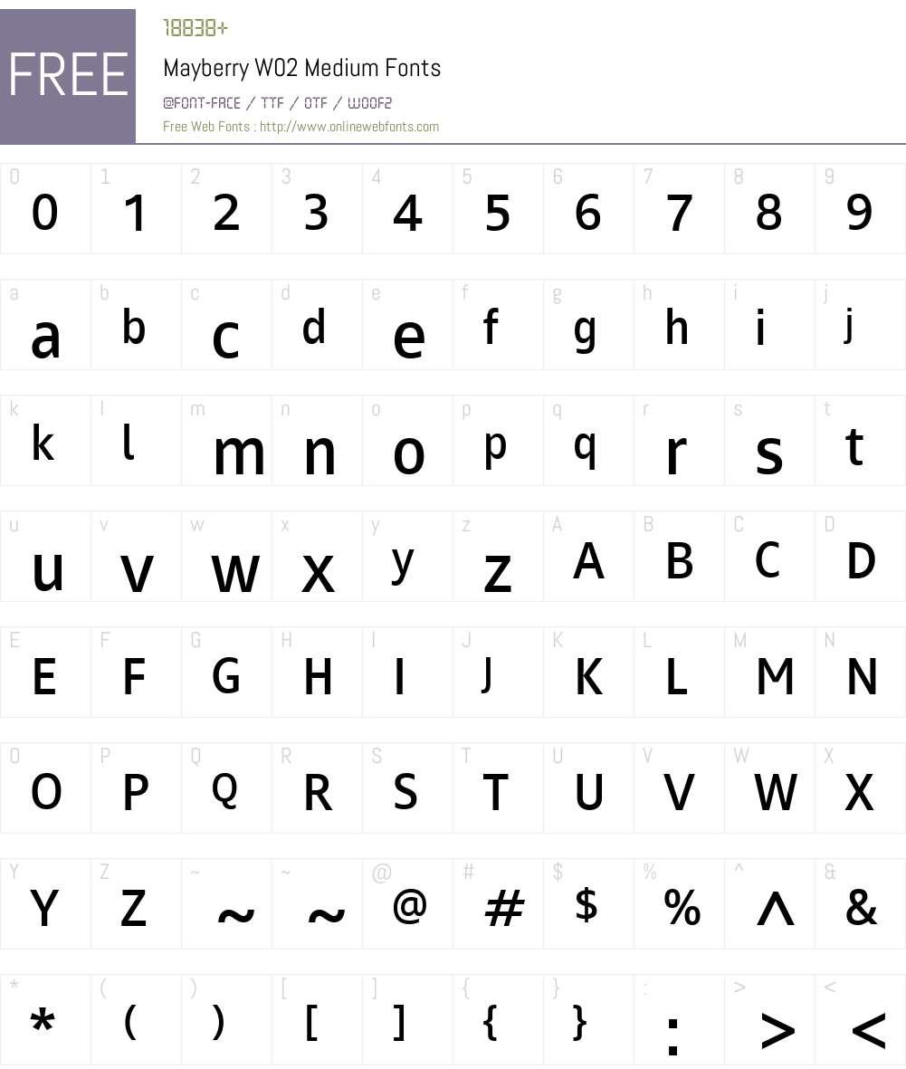 Mayberry Font Screenshots