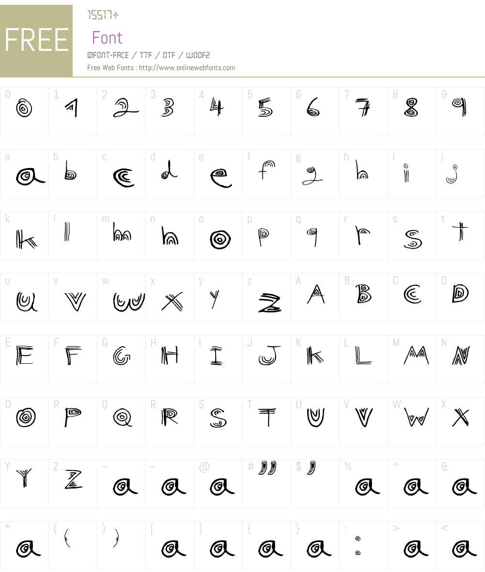 nuni Font Screenshots