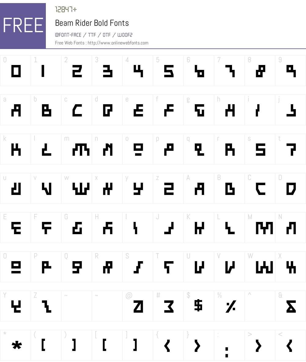 Beam Rider Bold Font Screenshots