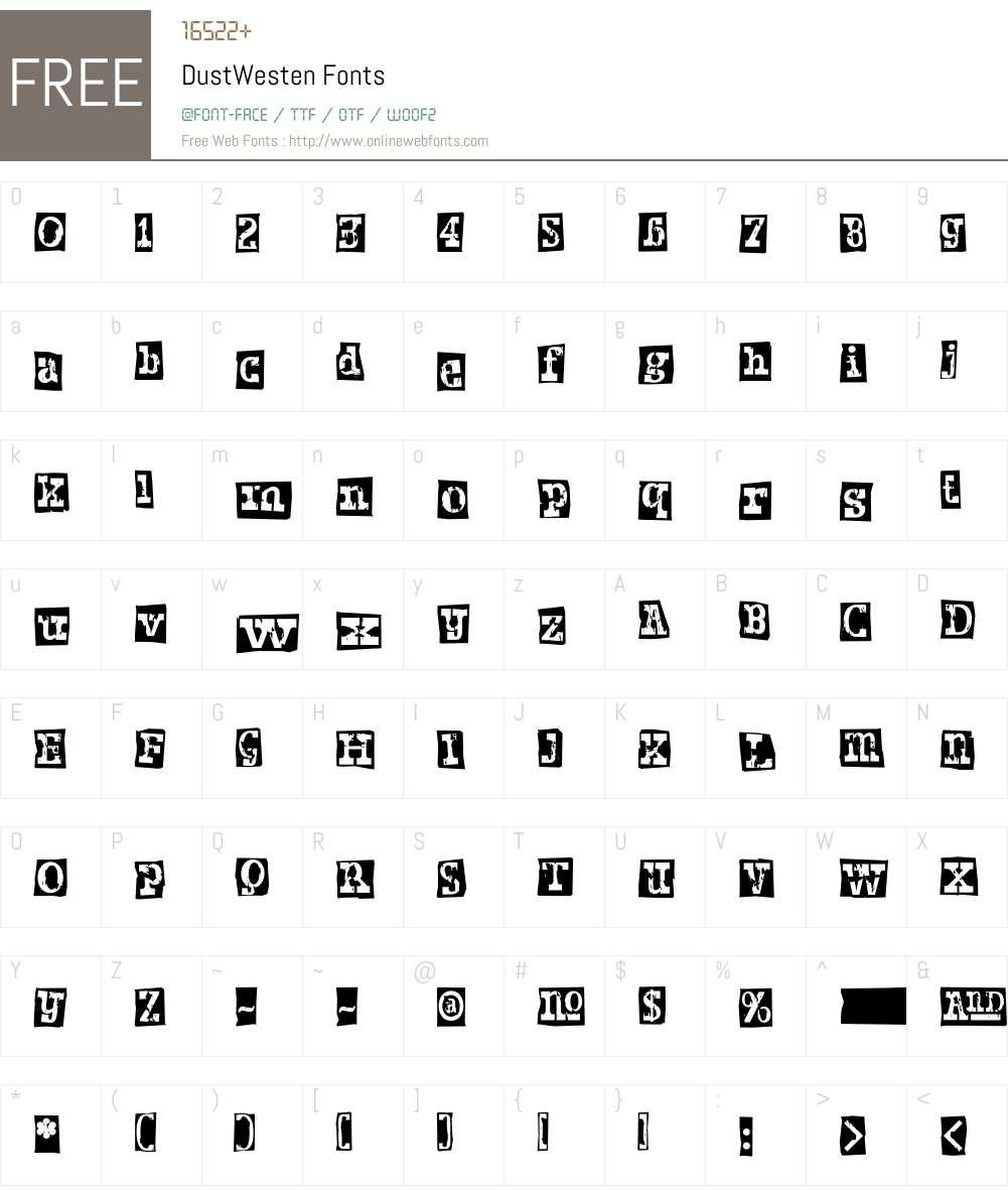 Dust Font Screenshots