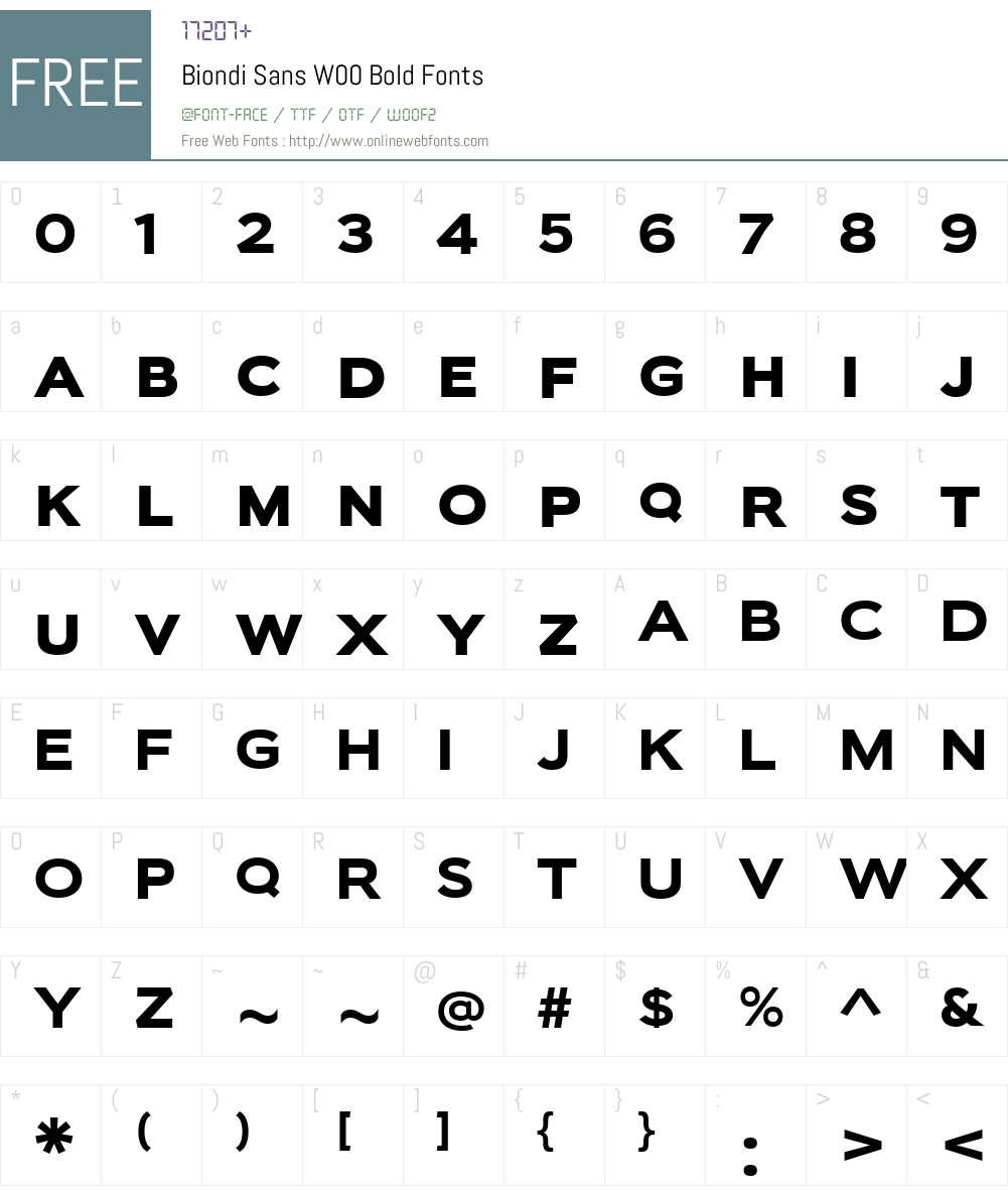BiondiSansW00-Bold Font Screenshots
