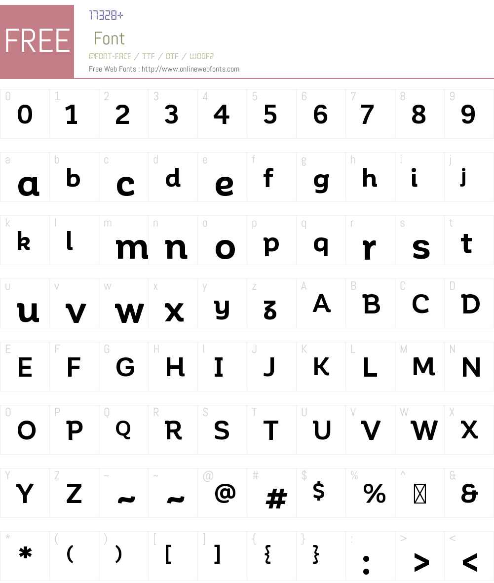 Corporative Font Screenshots