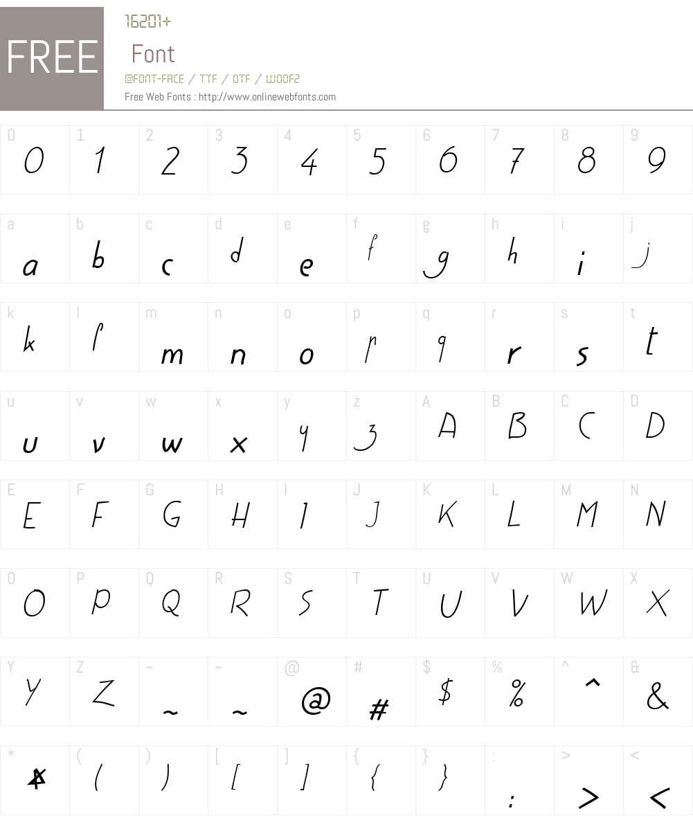 HighScriptW01-40Italic Font Screenshots