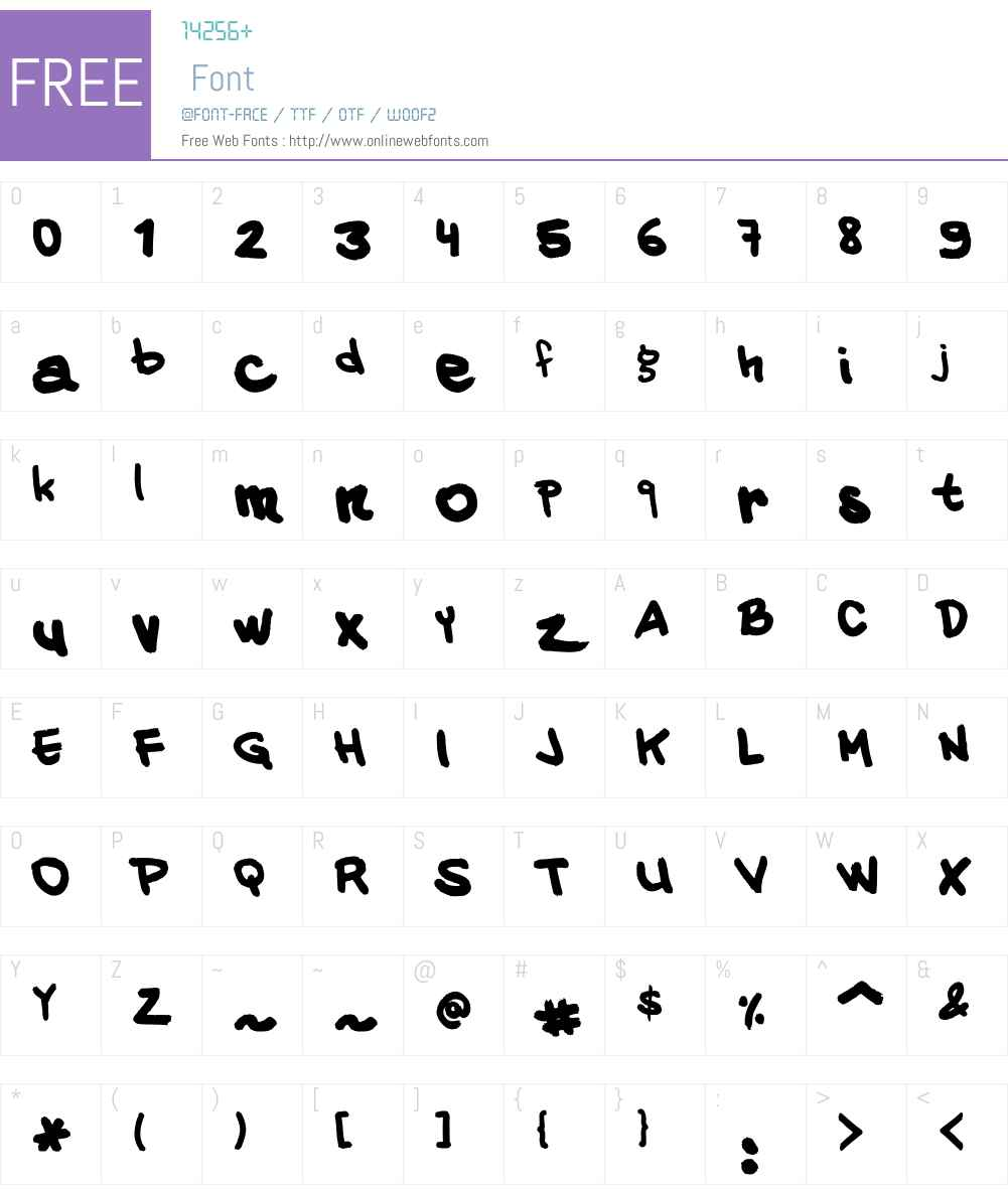 VINZ Hand Font Screenshots