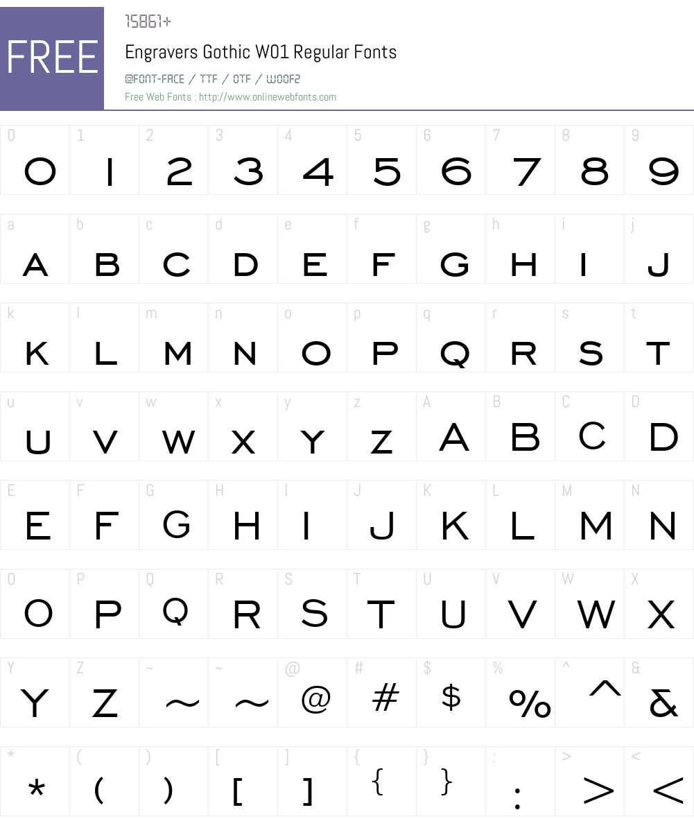 EngraversGothicW01-Regular Font Screenshots