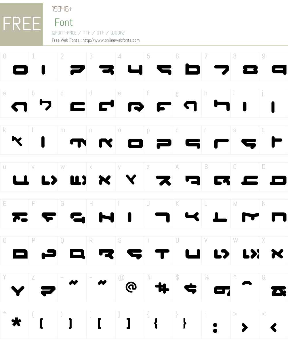 CQN-Molecular-Xtra Font Screenshots