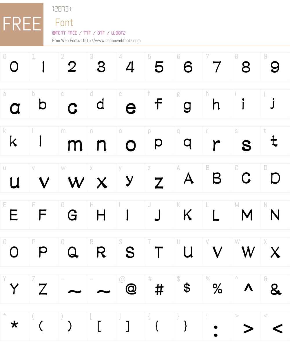 M Li PRC Font Screenshots