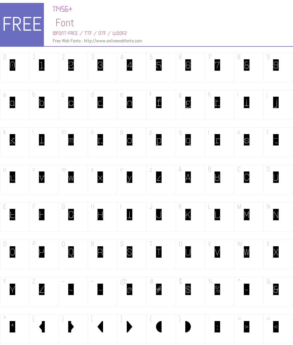 UserW00-ExtraLightCameo Font Screenshots