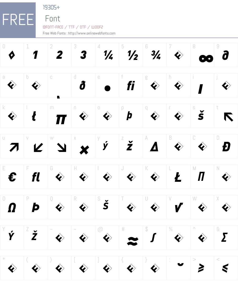 DIN-BlackItalicExp Font Screenshots