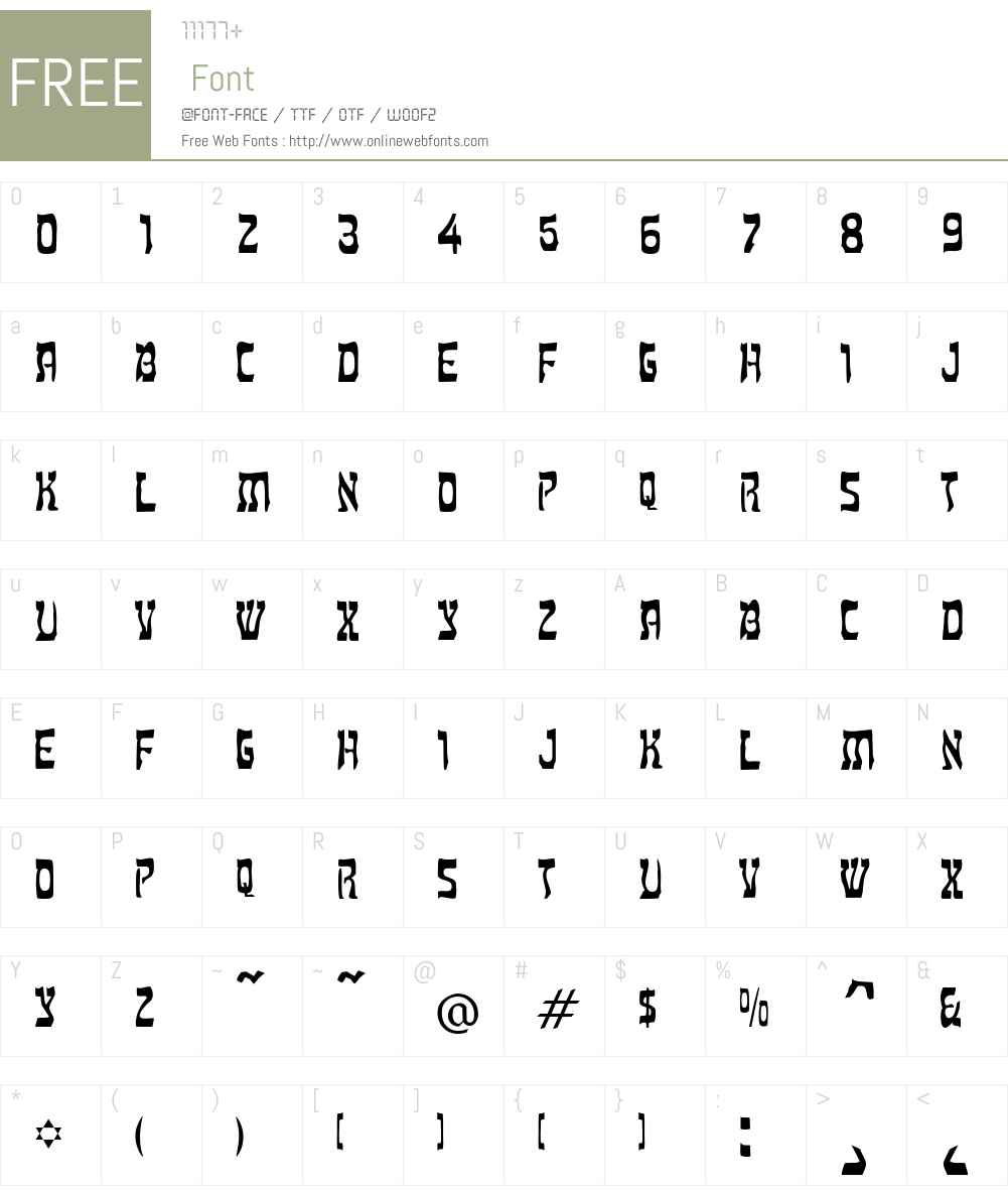Kosher Font Screenshots