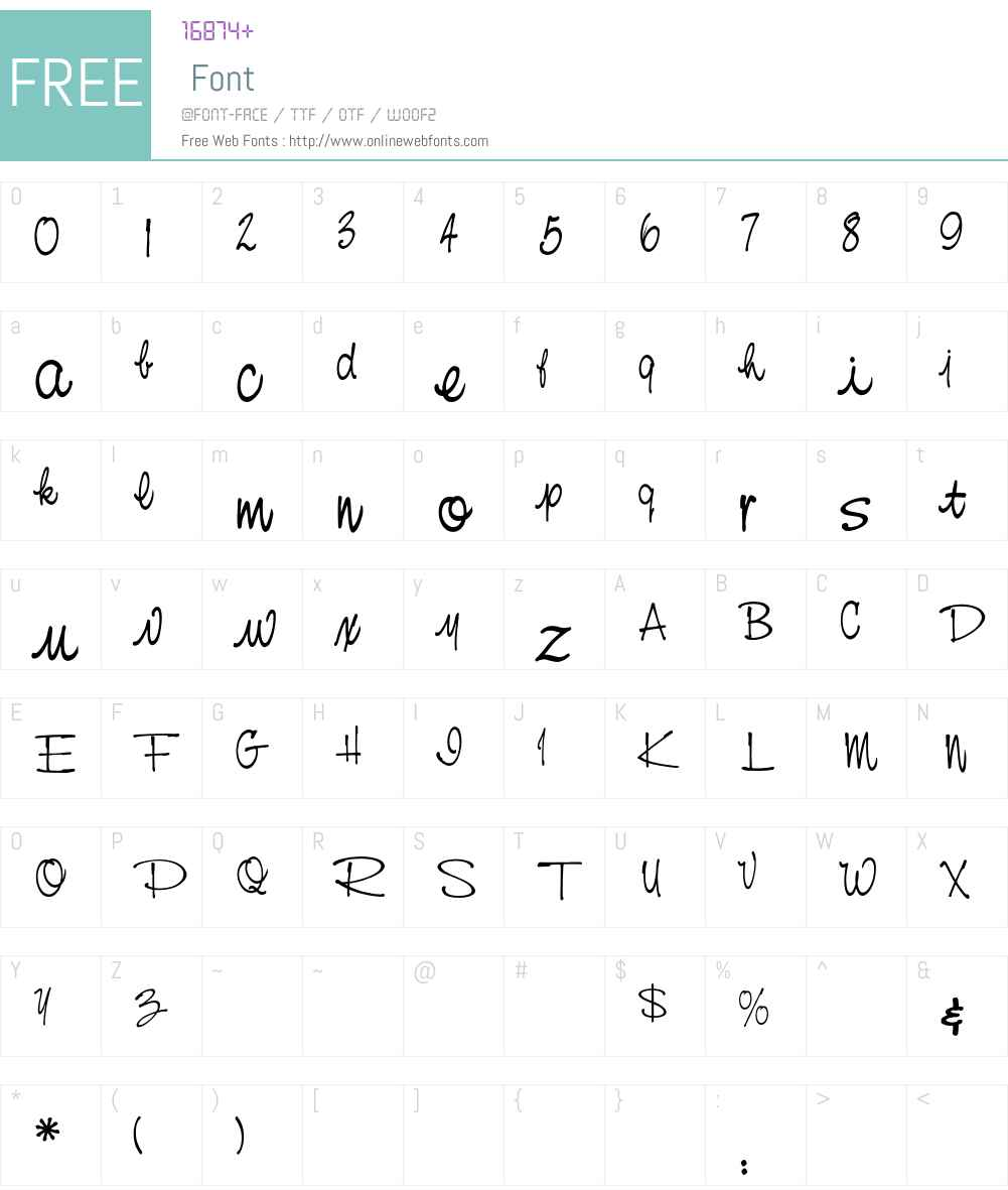 NevisionCasualEF Font Screenshots