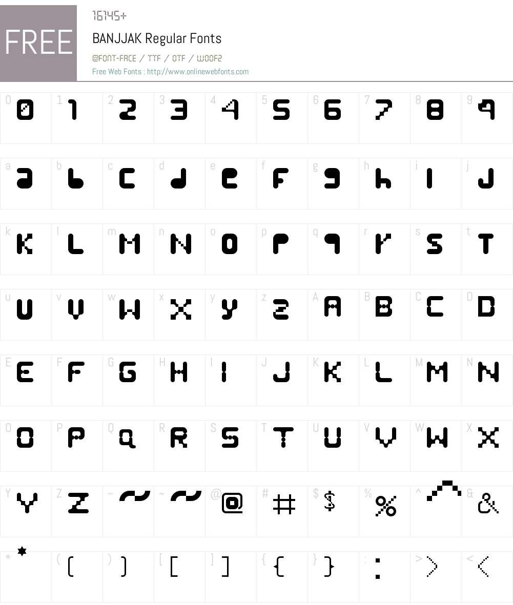 BANJJAK Font Screenshots