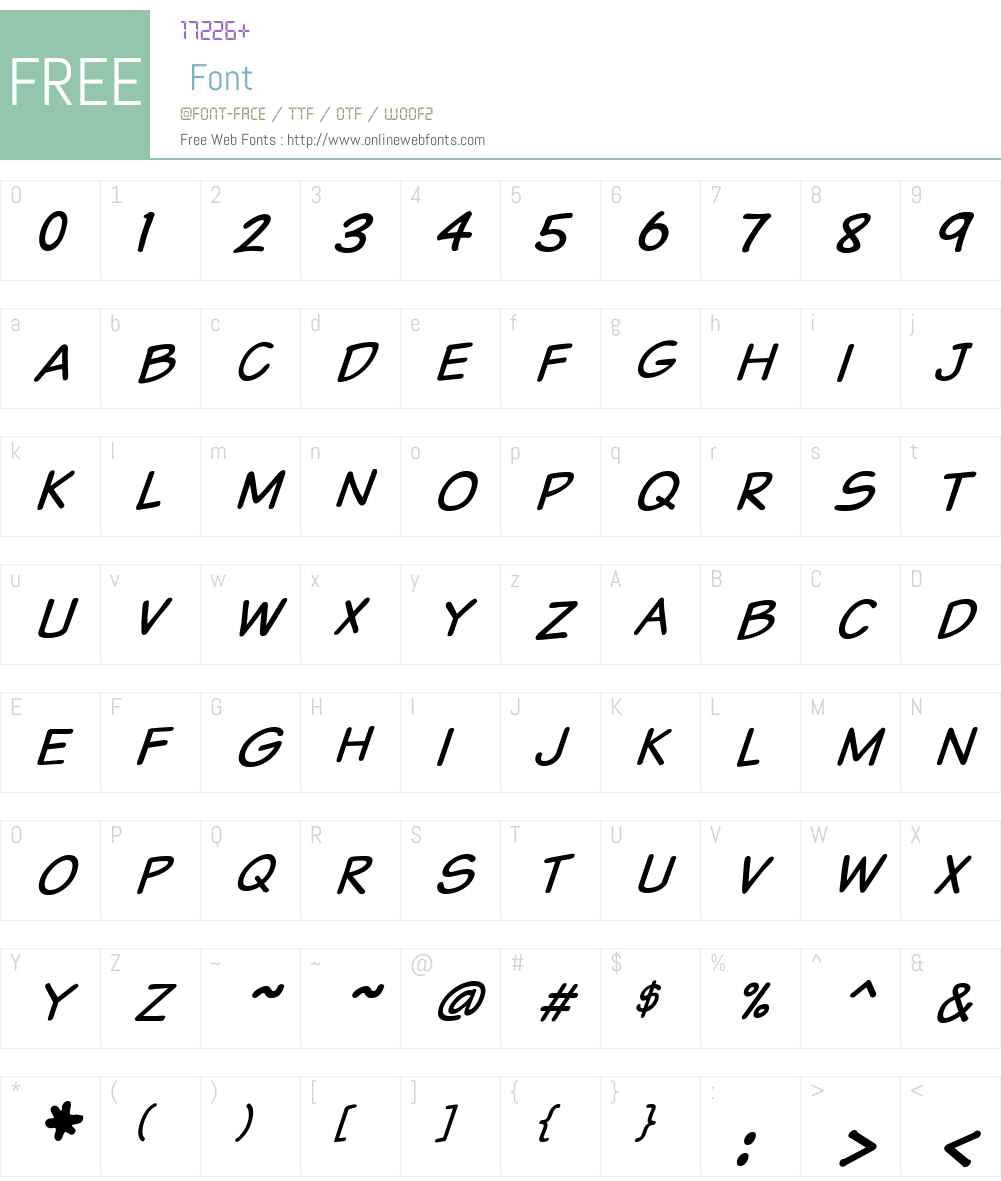 VTCSundaykomixcaps Font Screenshots