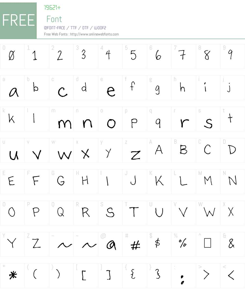 Bartley Font Screenshots