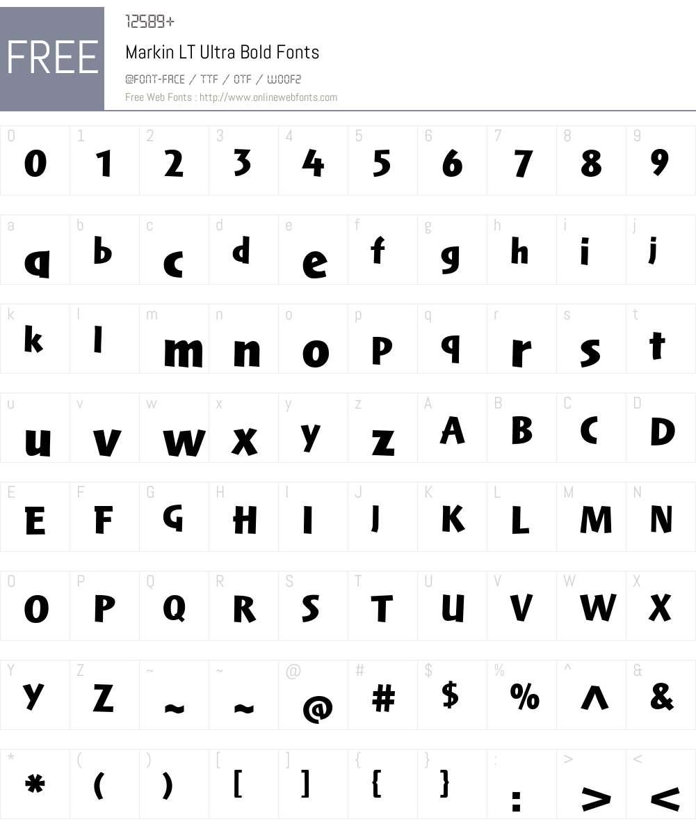 Markin LT UltraBold Font Screenshots