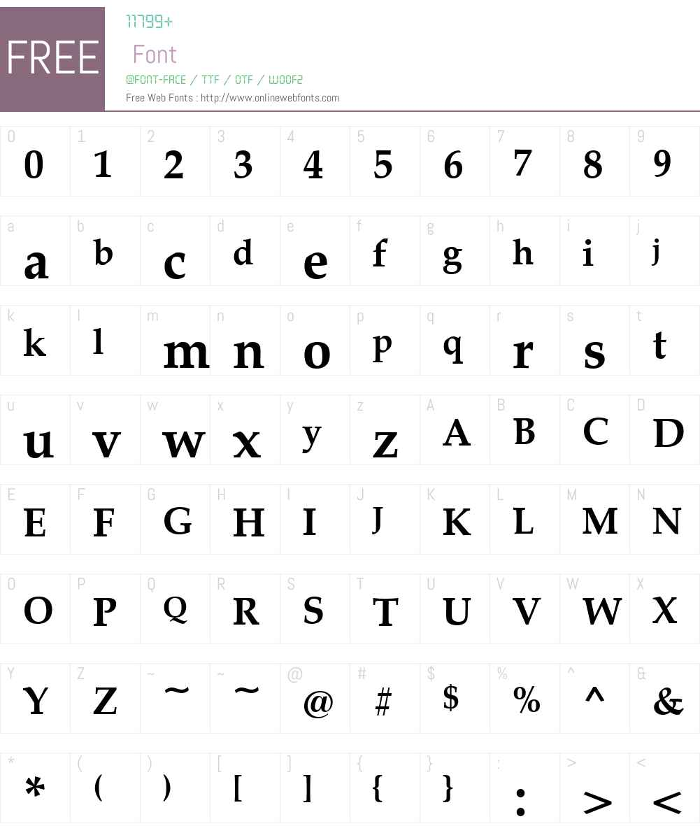 Palladio Font Screenshots