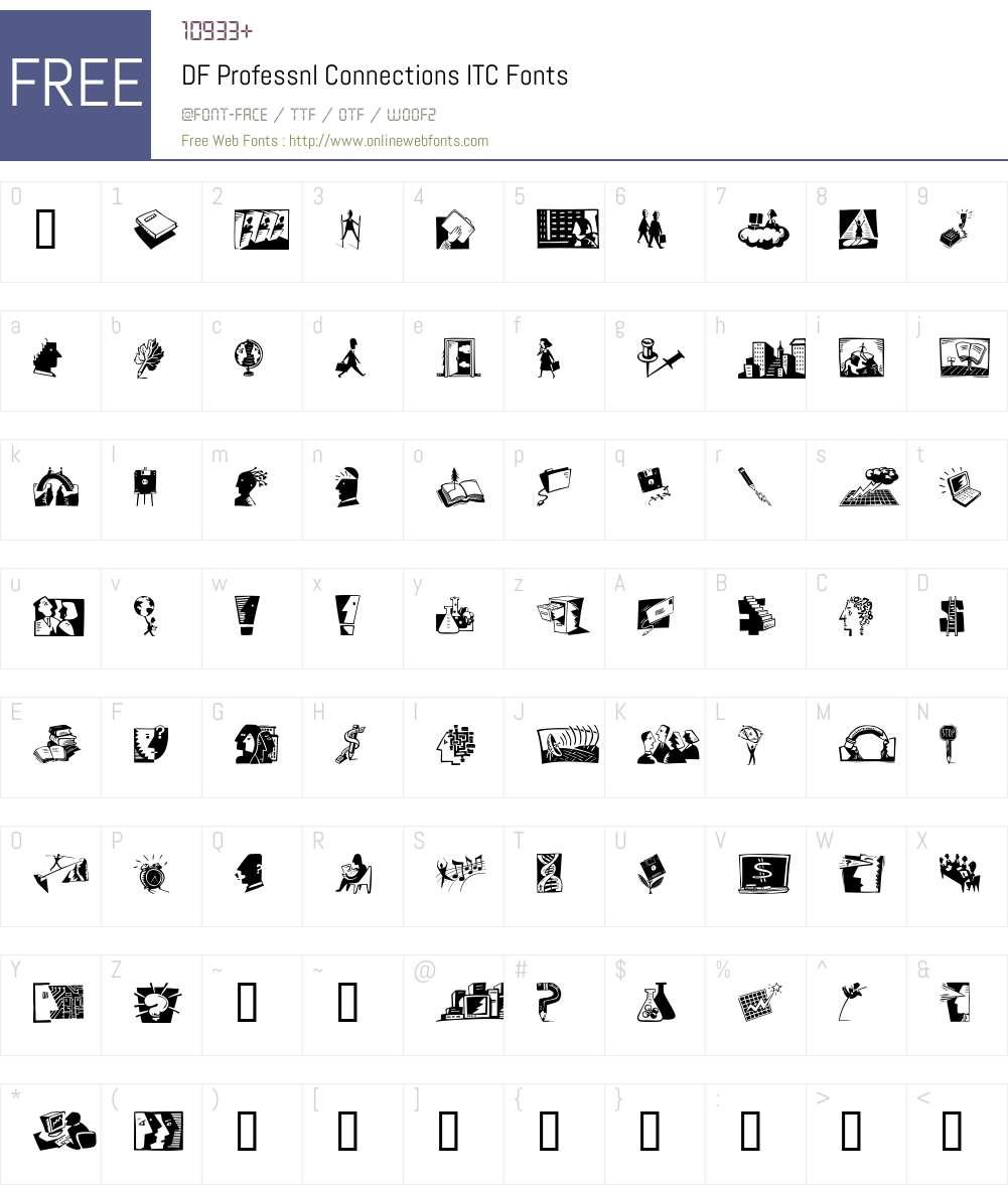 DF Professnl Connections ITC Font Screenshots
