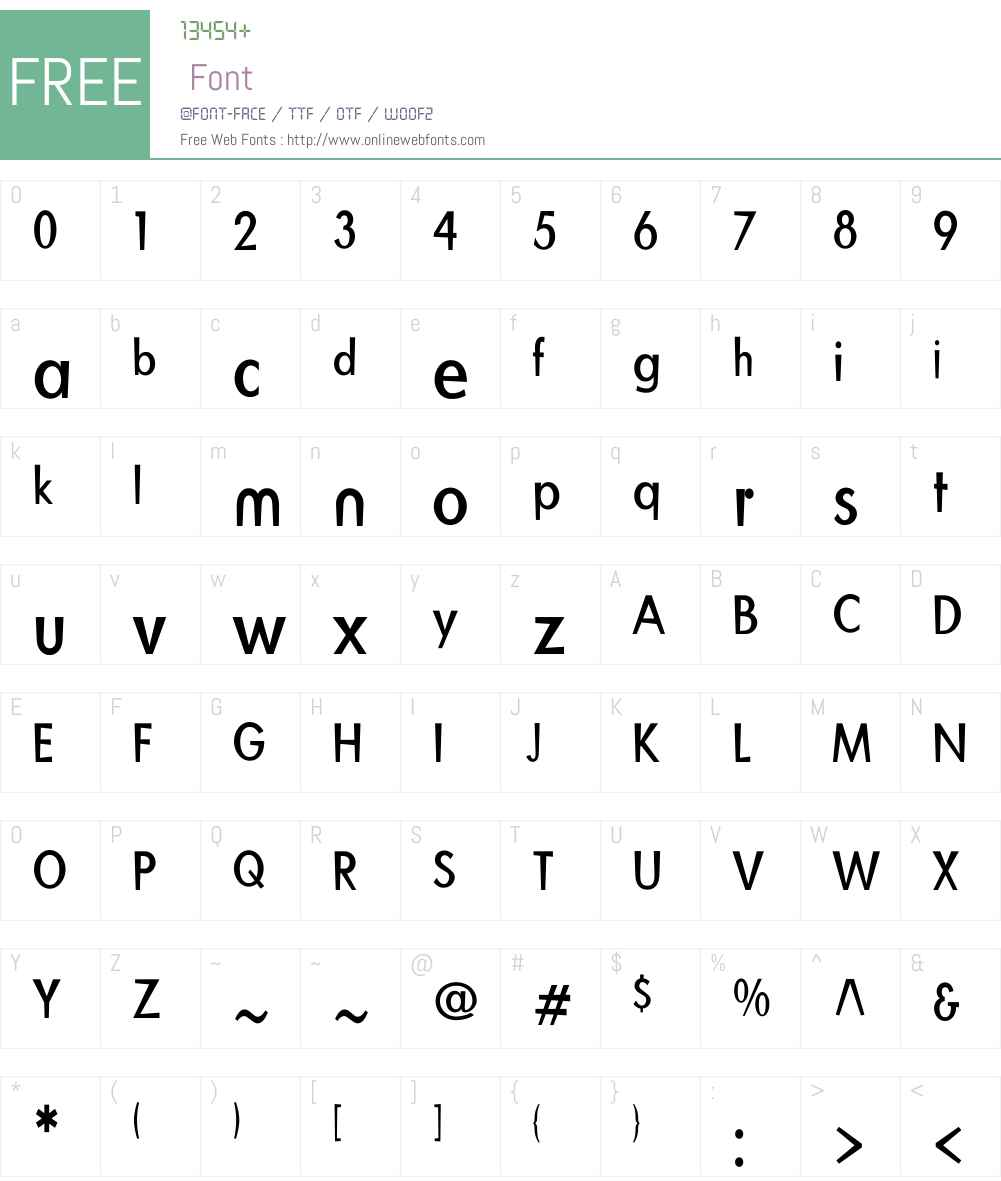 BlitzCondensedW01-Roman Font Screenshots