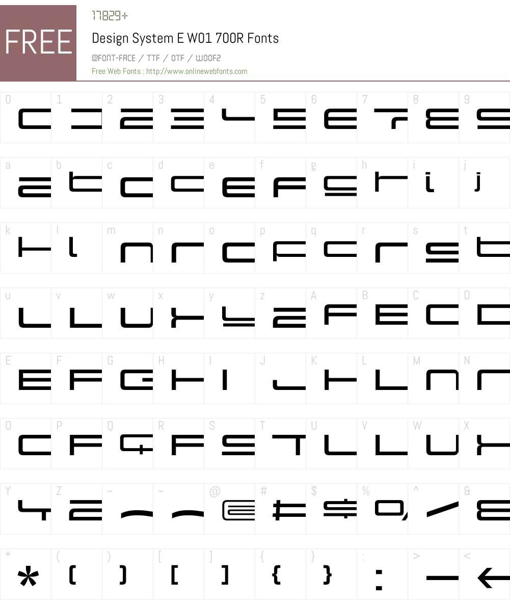 DesignSystemEW01-700R Font Screenshots