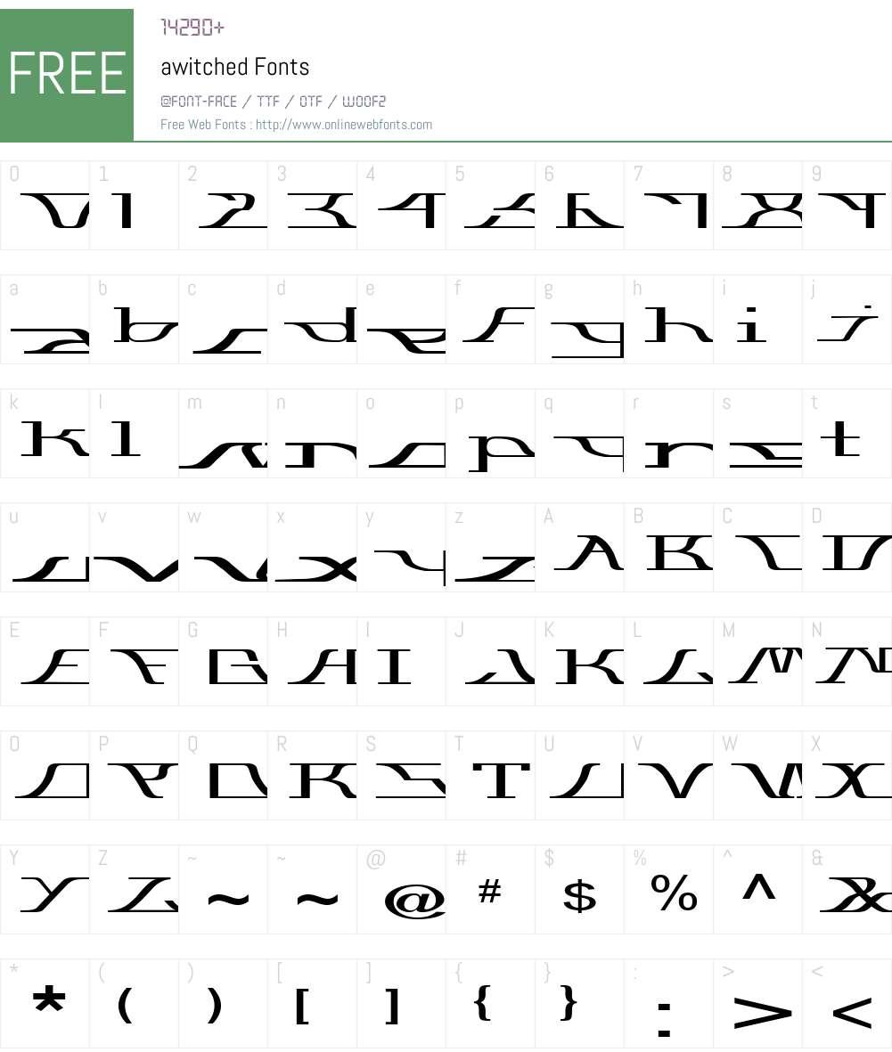 awitched Font Screenshots