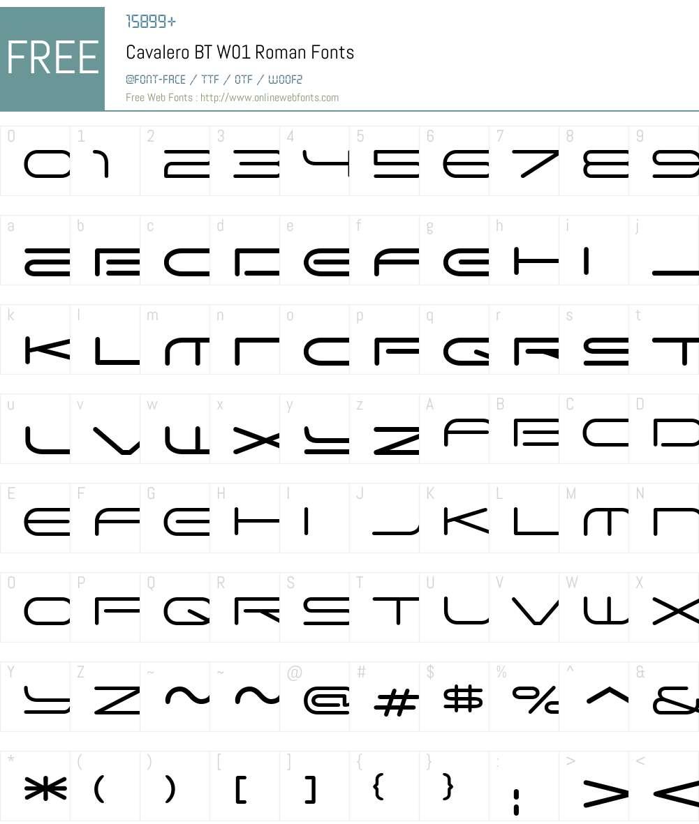 CavaleroBTW01-Roman Font Screenshots