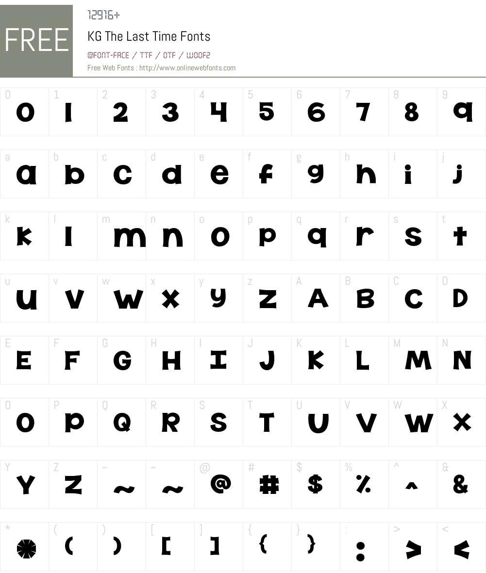 KG The Last Time Font Screenshots