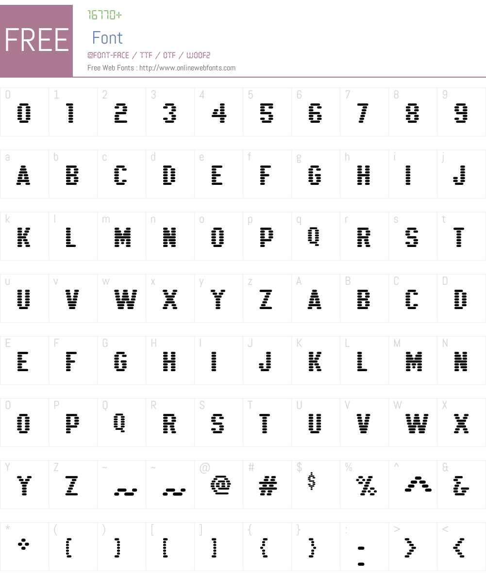 K22 Xanthus Font Screenshots