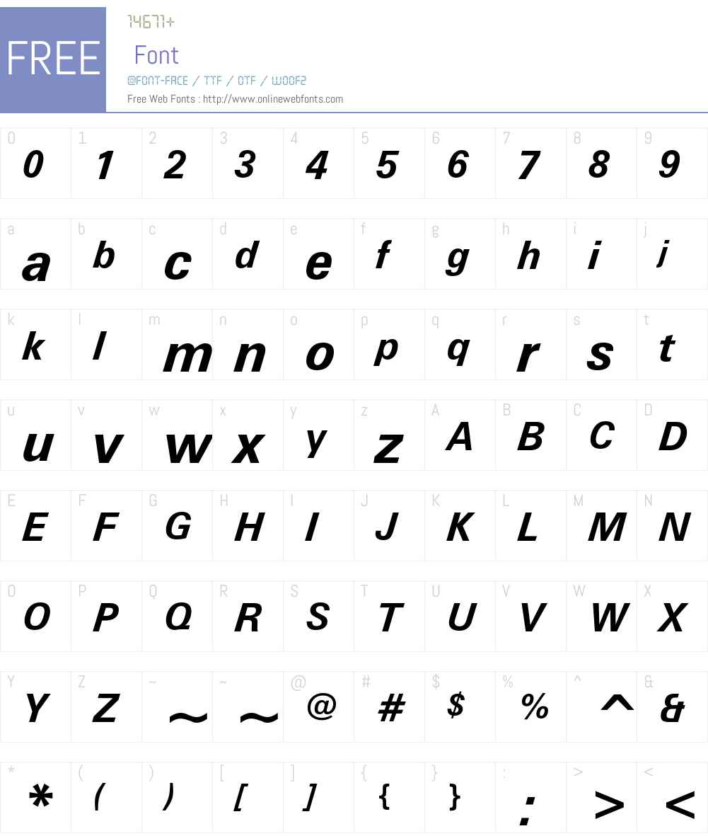 Zurich Font Screenshots
