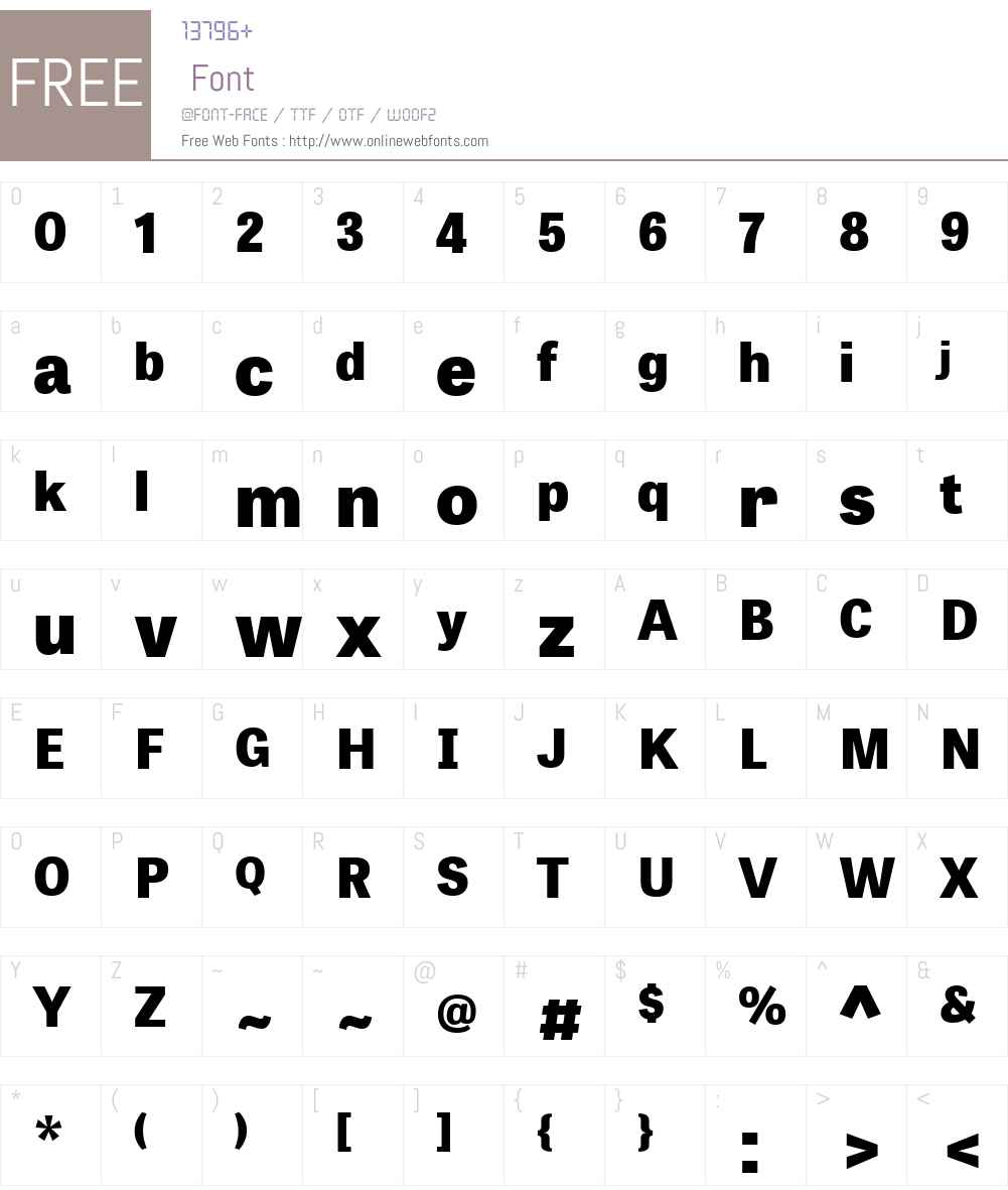 TabletGothicW01-ExtraBold Font Screenshots