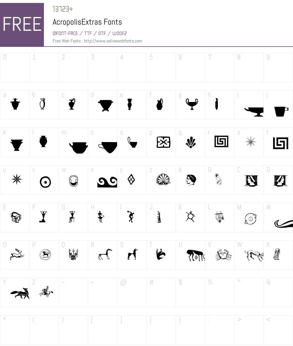 Acropolis Font Screenshots