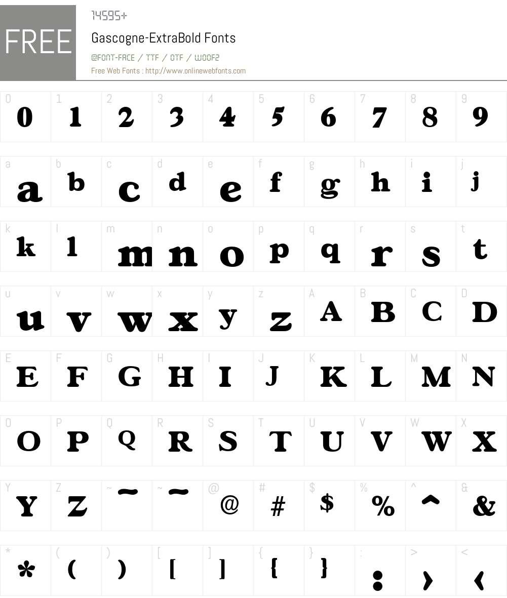 Gascogne-ExtraBold Font Screenshots