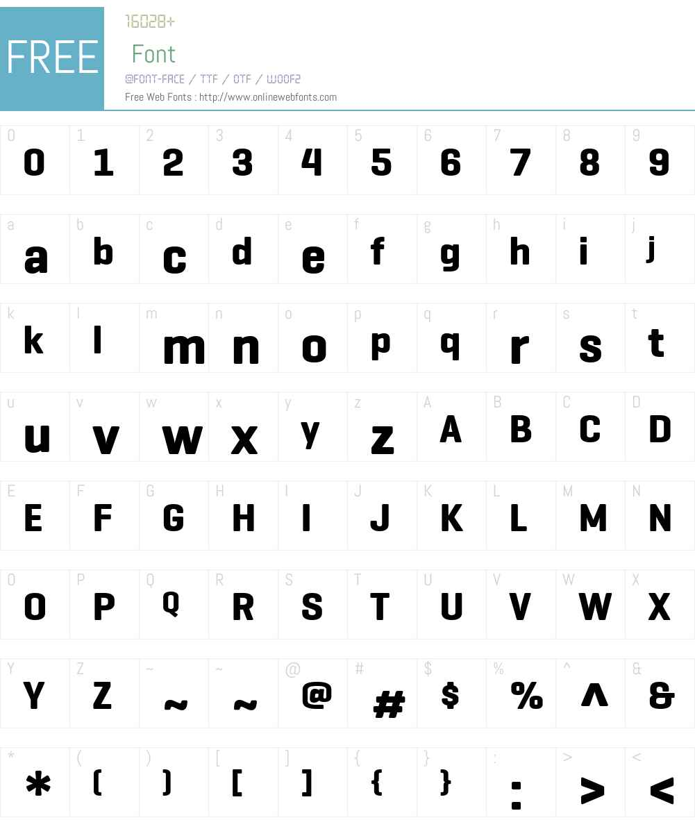 GeogrotesqueW01-Bold Font Screenshots