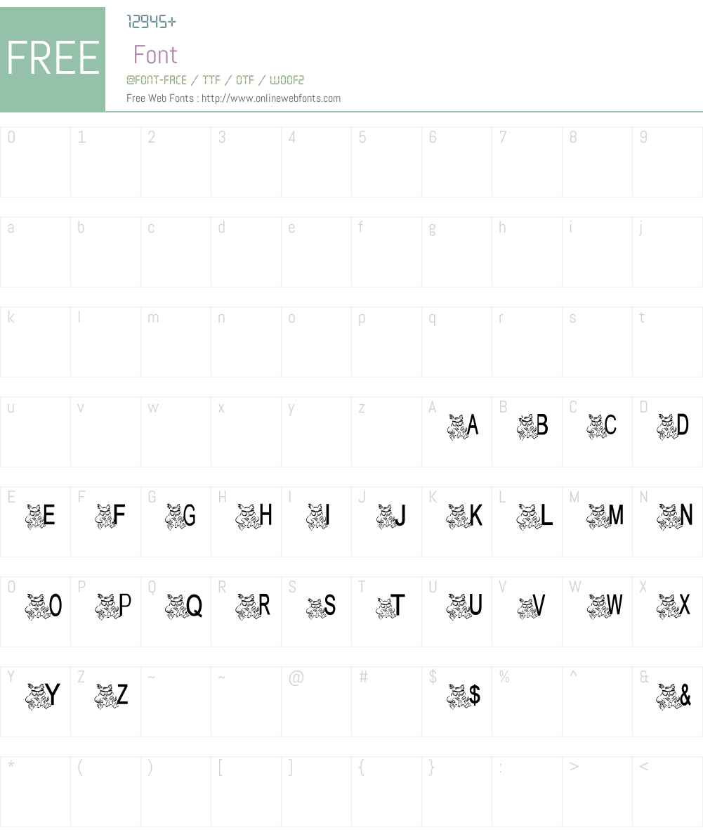 AEZ owlness Font Screenshots
