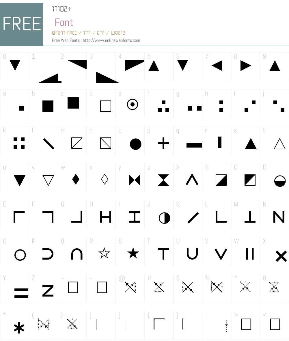 PIXymbolsXchartingW95-Reg Font Screenshots