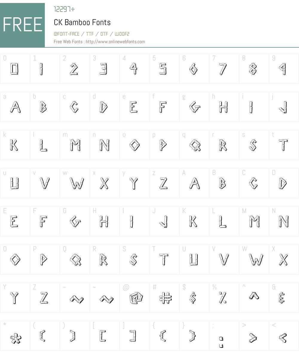 CK Bamboo Font Screenshots