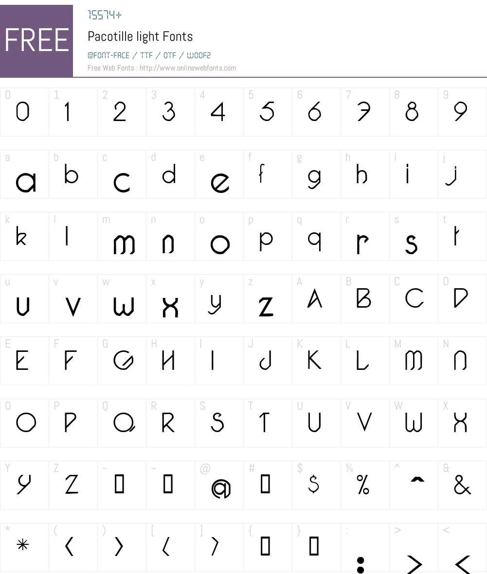 Pacotille Font Screenshots
