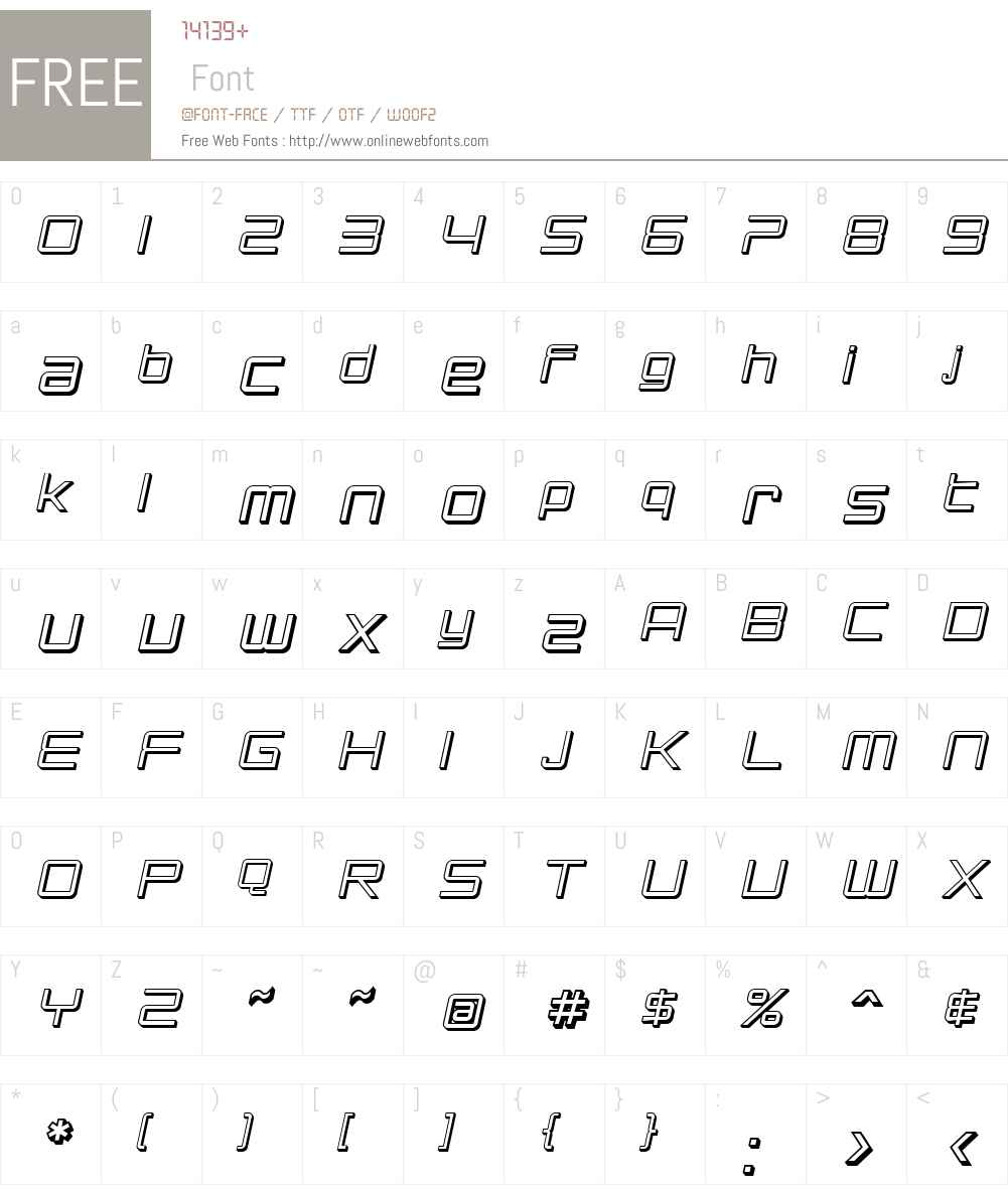 SF Chromium 24 Font Screenshots
