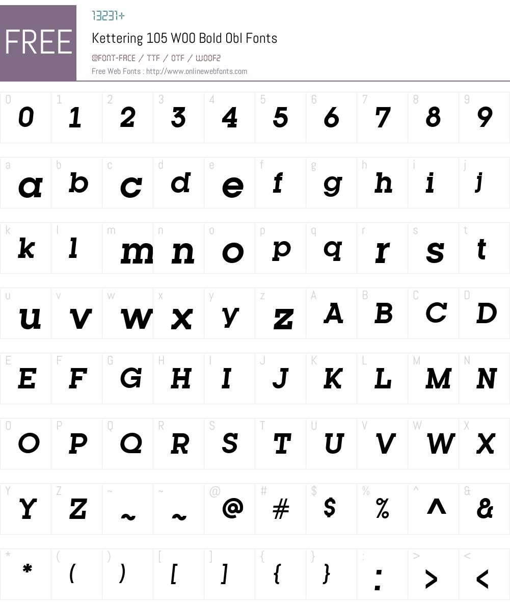 Kettering105W00-BoldObl Font Screenshots