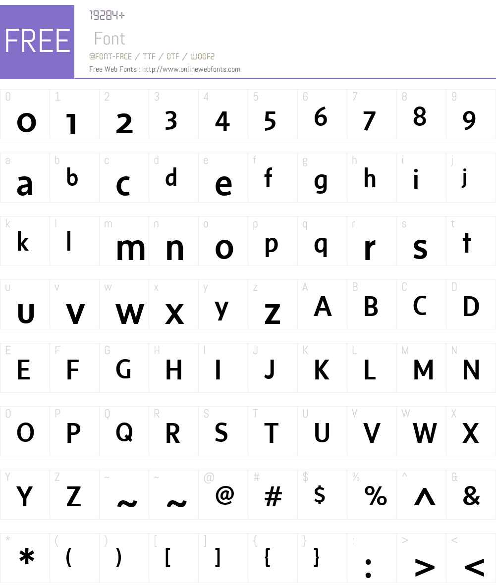 SenseW01-Medium Font Screenshots