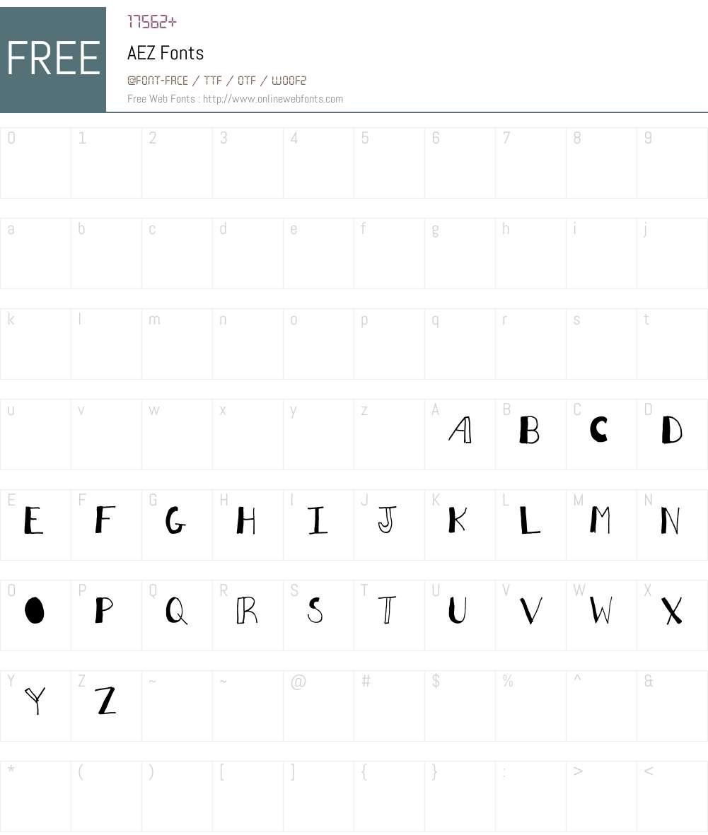 AEZ Font Screenshots