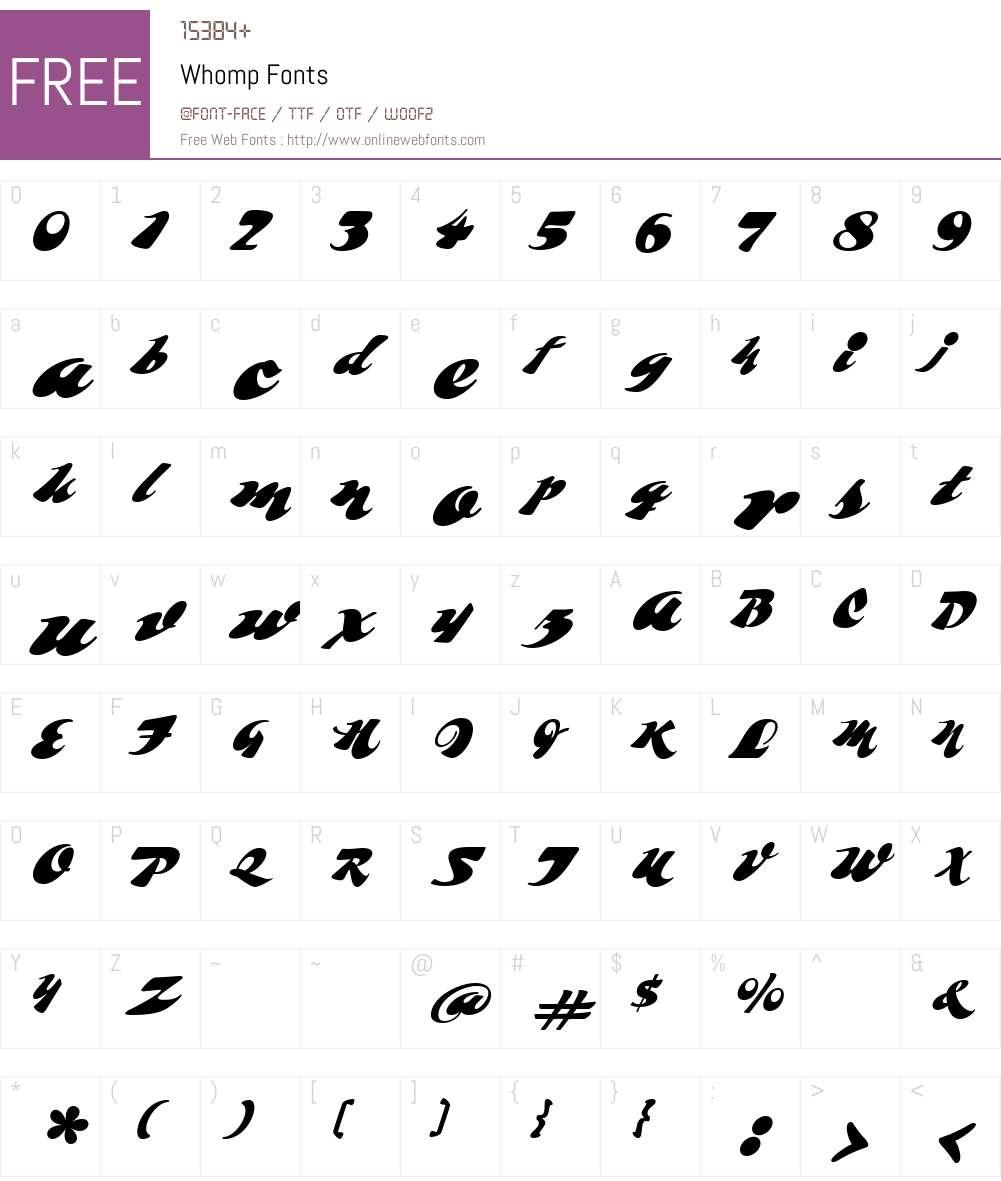 Whomp Font Screenshots