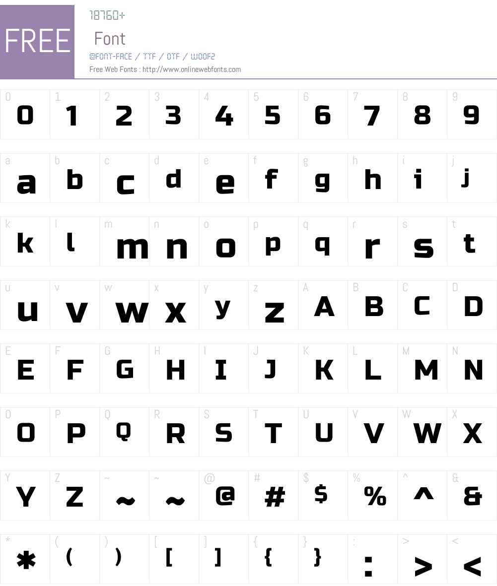 Russo One Font Screenshots