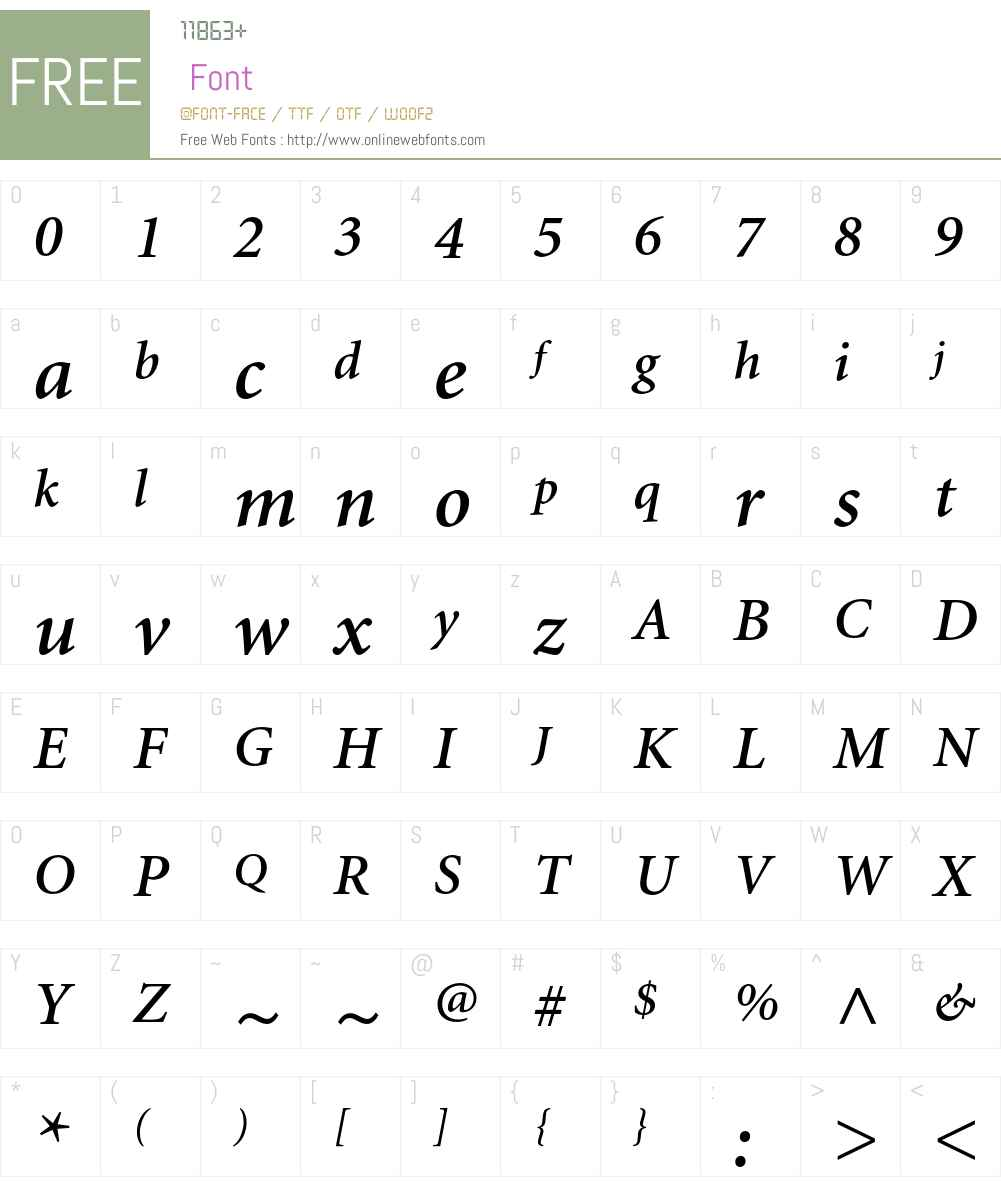 Minion Font Screenshots