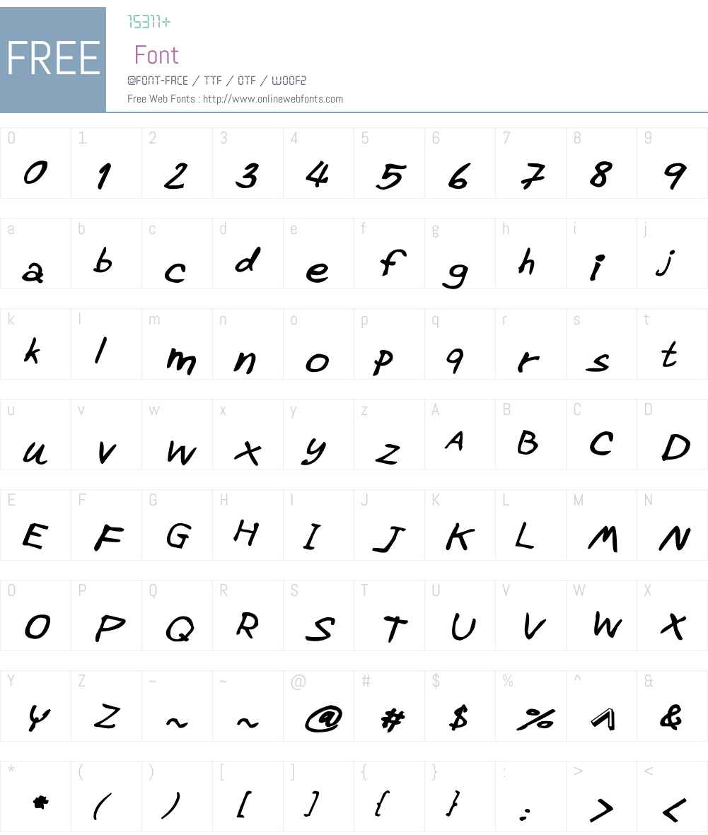 CRU-Pharit-Hand-WrittenBoldItal Font Screenshots