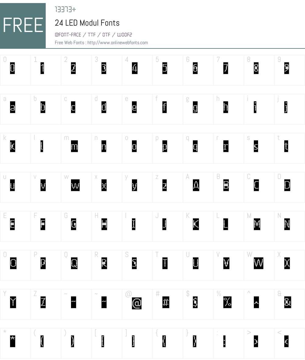24 LED Modul Font Screenshots